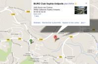 Localiser le centre d'affaires Sophia Antipolis