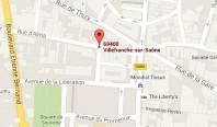 Localiser le centre d'affaires Villefranche sur Saône