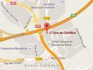 Localiser le centre d'affaires Besançon