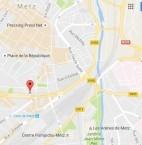 Localiser le centre d'affaires Metz