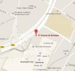 Localiser le centre d'affaires Rouen