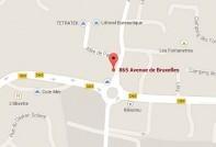 Localiser le centre d'affaires La Seyne sur Mer